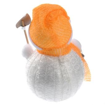 Lovely Snowman Shaped Christmas Decoration Ornament - Medium Size Orange - picture 2