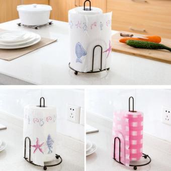 LT365 Creative Iron Art Vertical Stand Kitchen Paper Towel ToiletTissue Holder - Bronze - intl - 3
