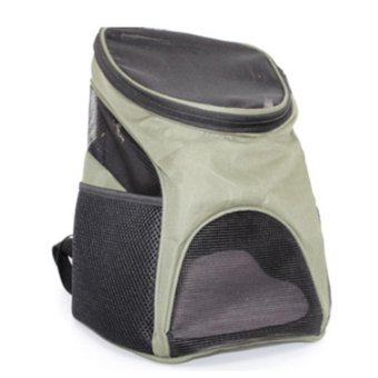 LT365 Portable Outdoor Travel Pet Carrier Backpack for Dog Cat -Army Green - intl