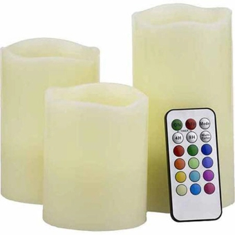 Luma Color Changing Candles with Remote Control - 4