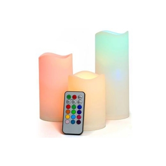 Luma Color Changing Candles with Remote Control - 3