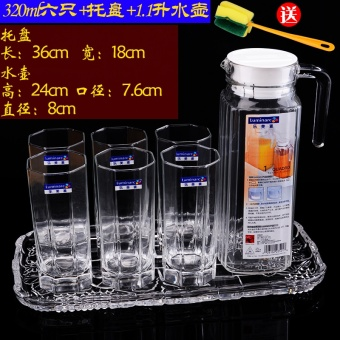 Luminarc transparent lead-free Heat-resistant octagonal cup Glass Cup