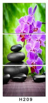 Luxry 3 Panel Modern Abstract Flower Painting On Canvas Wall ArtCuadros orchid Flowers Picture Home Decor For Living Room No Fr(Noframe) - 2