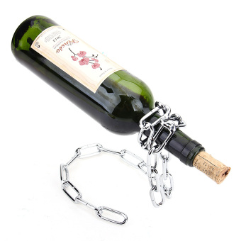 Magic Chain Bottle Holder BOXED GIFT Rack Stand For Wine Decanter - 2