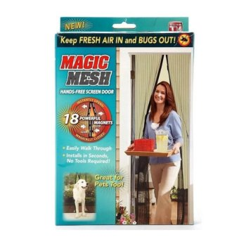Magic Mesh Magnetic Curtain Net - Anti Mosquito Bug and Insect -Intl
