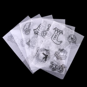 MagiDeal 6 Pieces Assorted Pattern Shrink Film Shrinkable Paper Christmas Decoration - intl - picture 2