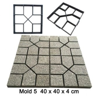 MagiDeal DIY Pathmate Concrete Stepping Stone Mould 40cm - 4