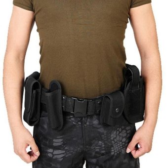 MagiDeal Utility Belt Waist Bag Security Police Guard Kit with Radio Holster Pouch - intl - 2