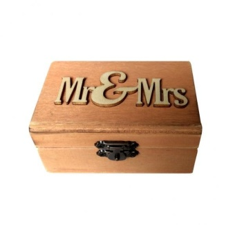 MagiDeal Wedding Mr & Mrs Wooden Ring Bearer Box Price Philippines