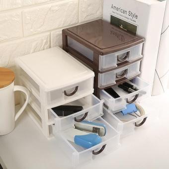 Makiyo Durable Plastic 4 Layers Drawer Storage Case Pratical Desktop Cosmetics Jewelry Watch Organizer Holder Box - intl - 5