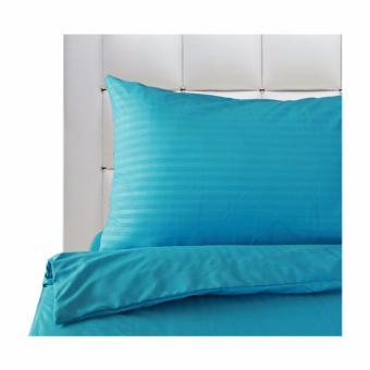 """Mandaue Foam Mezzo Pure M-3 Cyan Blue Flat Sheet King 90x108"""""""