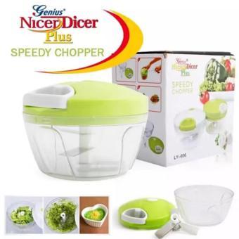 Manual Speedy Chopper Fruit Vegetable Crusher Onion CutterShredder(green) - 2
