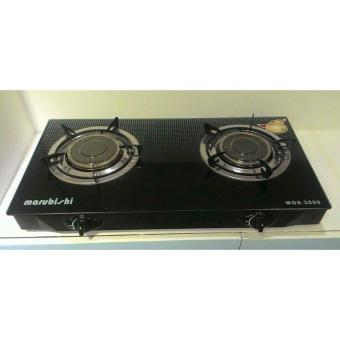 Marubishi MGS-3000 Double Burner Infrared Glass Gas Stove(Black/Silver) Price Philippines