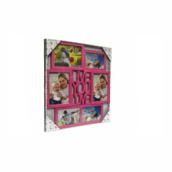 Me You Love Design Collage Picture Frame (Pink) - picture 3