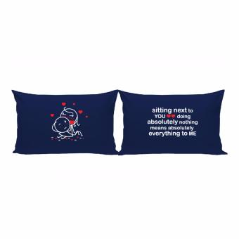 Me&U Sitting With You Couple Pillowcase Price Philippines