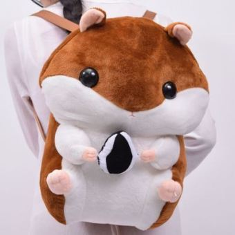 Meng cute plush seeds hamster shoulder backpack