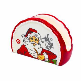 Merry & Bright Collectible Christmas Santa Tissue Holder - 2