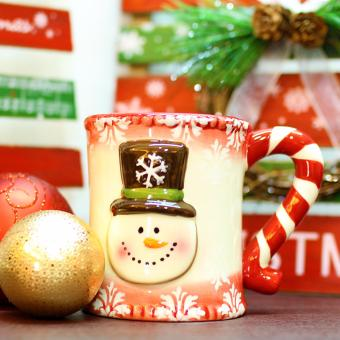 Merry & Bright Collectible Stripes Holder Mug Set of 3 - 2