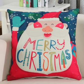 Merry Christmas Decoration Festival Pillow Case Cushion Cover - intl - picture 2