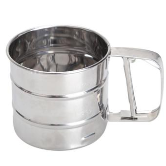 Mesh Flour Bolt Sifter Manual Sugar Icing Shaker Stainless SteelCup Shape - intl - 2
