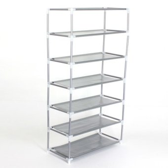 Metal Shoes Shelf Storage Organizer Rack Holder Household Stands 7Tier