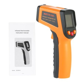 Meterk -50~400?C 12:1 Portable Handheld Digital LCD Non-contact IRInfrared Thermometer Temperature Measurement Pyrometer withBacklight - intl