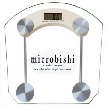 Microbishi Digital LCD Electronic Tempered Glass Bathroom Weighing Scale (BIG)