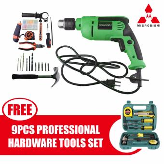 Microbishi Japan Impact Drill Heavy Duty Tool Set MID-18SET withfree Wawawei 9pcs Professional Hardware Tools Set #29885