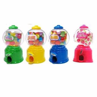 Mini Candy Dispenser with Coin Bank Set of 4
