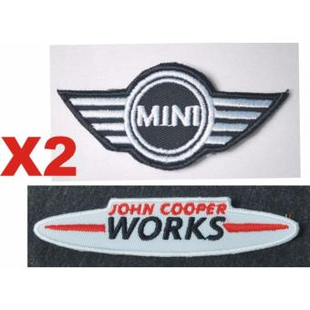 Mini Cooper Patch & John Cooper Works Embroidered Cloth PatchSet (Get 2)