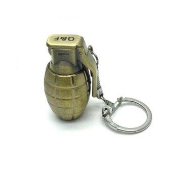 Mini Grenade Shape Metal Key Ring Lighter - 2