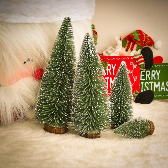 Mini White Cedar Tree Tabletop Tree Assorted Pine Trees ChristmasXmas Decoration - intl
