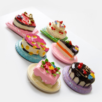 Model three-dimensional cake resin fridge magnet