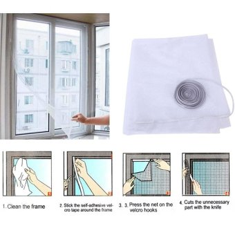 Moonar Insect Fly Bug Mosquito Door Window Net Mesh Screen Curtain Protector With Tape - intl