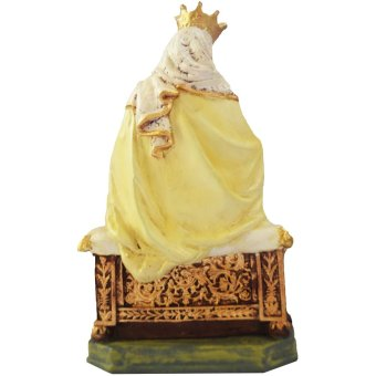 Mount Mt. Carmel sitting in a throne with Baby Jesus statue / figurine Religious Item (Made of Fiberglass Resin) by Everything About Santa (Christmas decoration and gift suggestion) - picture 2