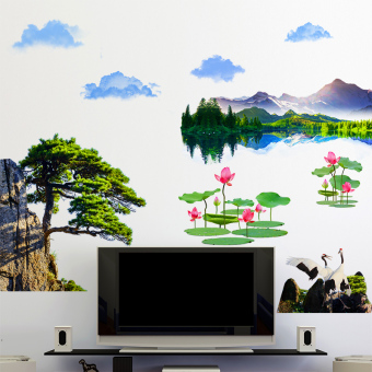 Mountain Water living room TV background wall Decorative Painting