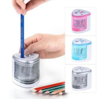 Multi-functional Automatic Electric Pencil Sharpener Battery Operated with 2 Holes(6-8mm / 9-12mm) for Home School Student Blue - intl - 5