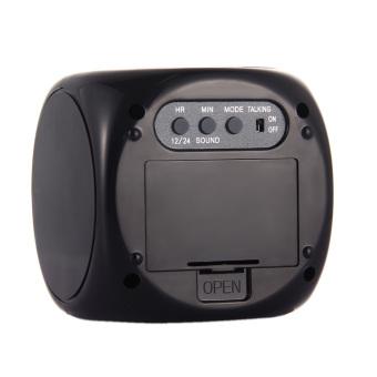 Multifunction Vibe LCD Talking Projection Alarm Clock Time &Temp Display (Intl) - 5