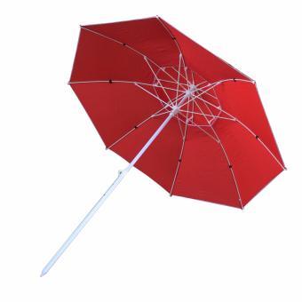 Multifunctional Big double leyered Outdoor patio Garden Beachumbrella (RED) - 3