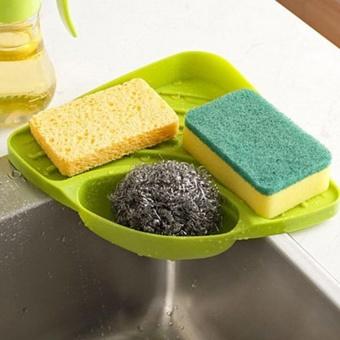 Multifunctional Kitchen Sink Triangle Racks Soap Stand StorageOrganizer Box Holder (Green) by LuckyG - intl - 3