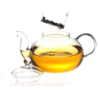 Mushroom Heat Resistant Glass Teapot Infuser Tea Pot Clear 350ML (Intl)