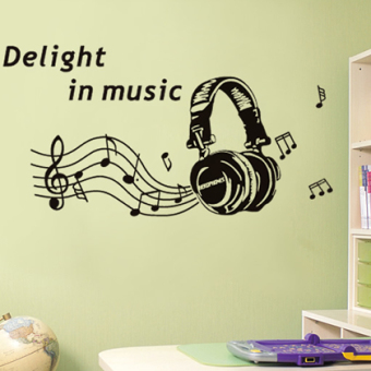 Music headset living room bedroom Library wall stickers