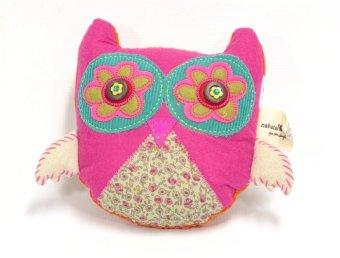 Natural Life boho Pillow Owl (Hot Pink)