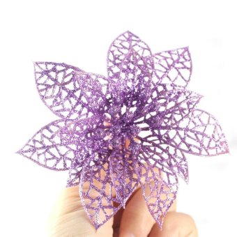 NEW 1 PC 6 inch Christmas Artificial Flowers Xmas Tree Decorations Hollow Wedding Party Decor Ornaments - intl
