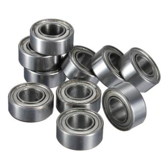 New 10pcs MR105 MR105ZZ Metal Sealed Shielded Miniature Bearing Ball 5X10X4mm - intl