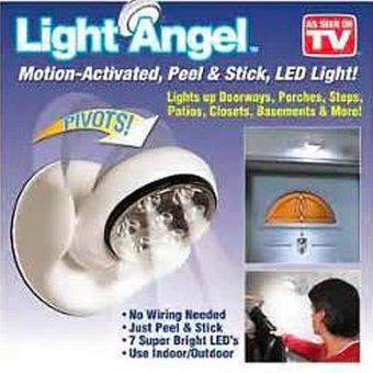New 2017 Best Quality Light Angel Motion Activated Stick Up LEDSensor Light (White) - 2