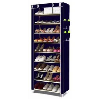 New 2017 Color Shoe Cabinet Shoe Rack Organizer (Blue)