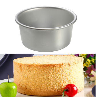 New 2/4/6/8'' Aluminum Alloy Non-stick Round Cake Baking Mould PanBakeware Tool 6 inches - 4