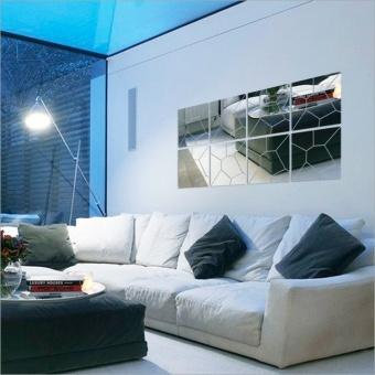 New 3D Mirror Wall Mirror Wall Geometry Trade Acrylic Decoration Room Mid - intl - 2