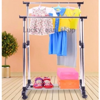 New Best Quality Clothes Rack Double Pole No. YJX6802